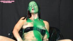 brunette_slimed_green_gunge_010